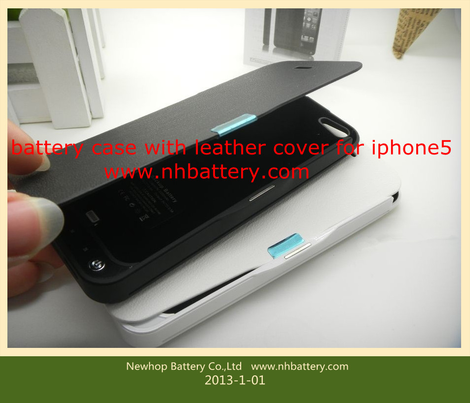 Backup battery for iphone5 battery case with cover for iphone5 external battery 2200mah power bank for iphone5 power bank  portable battery for iphone5 battery