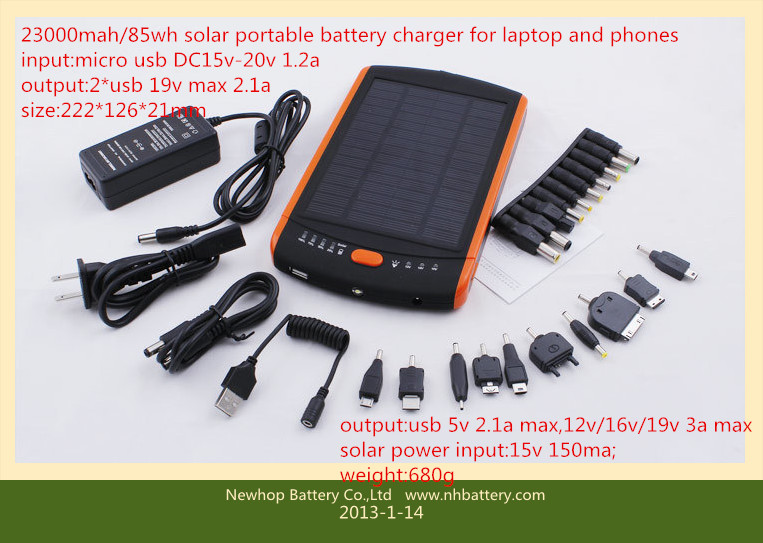 23000mAh Solar Power bank 23ah External battery 23000mah Backup Battery portable laptop battery charger For laptops iPhone samsung All mobile phone