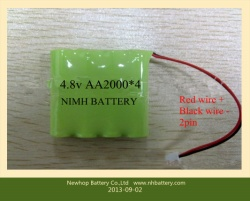 4.8v nimh battery pack 4.8v aa2000 ni-mh battery pack for solar light battery 4.8v aa2000mah low cost nimh battery packs for led light products 4*aa2000mah