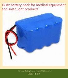 14.8v 4s3p 6600mah lithium ion battery pack for medical equipment battery 14.8v 6600mah li-ion battery pack for solar light and led products 14.8v battery pack
